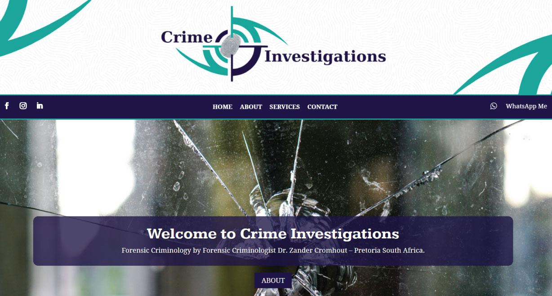 Crime Investigations Forensic Criminology