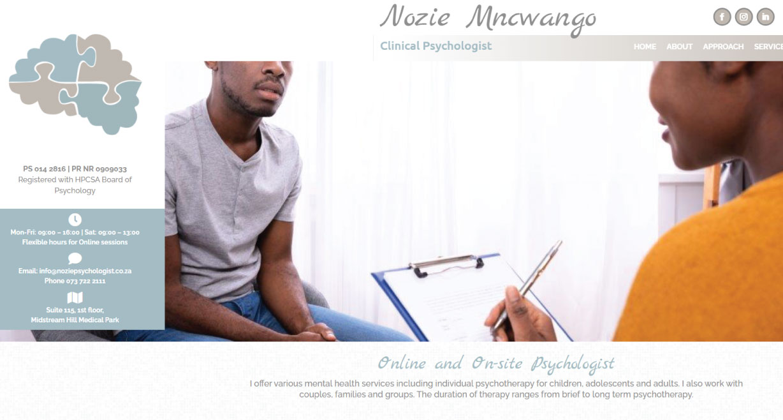 Nozie Mncwango Clinical Psychologist